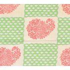 5090-07SUN BANGALORE New Shrimp Grass Green Quadrille Fabric