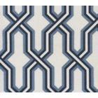 6300-CUST3SUN GORRIVAN FRETWORK Navy Periwinkle Custom Only Quadrille Fabric