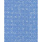 6455-01 MELONG BATIK REVERSE French Blue on Tint Quadrille Fabric