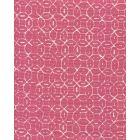 6455-14 MELONG BATIK REVERSE Magenta on Tint Quadrille Fabric