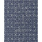 6455-05 MELONG BATIK REVERSE Navy on Tint Quadrille Fabric