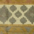 007623T MOJAVE STRIPE Gold Grays with Terra Quadrille Fabric