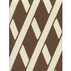 CP1050-06 MONTECITO BAMBOO Cognac on Tan Linen Quadrille Fabric