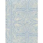 CP1000-04 PERSIA New Blue on Taj Ecru Quadrille Fabric