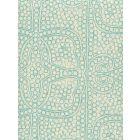 CP1000-03 PERSIA Turquoise on Taj Ecru Quadrille Fabric