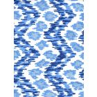 7335V-01WSUN ZIZI VERTICAL Navy French Sky on White Quadrille Fabric