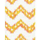 7330-03W ZIZI ZIG ZAG Pinks Yellow on White Quadrille Fabric