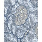 4060M-08WP FLORES II Multi Navy Cream On White Quadrille Wallpaper