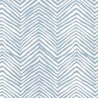 AP303-09 PETITE ZIG ZAG Slate Blue On Almost White Quadrille Wallpaper