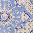 6430T-01 NEW BATIK French Blue Navy on Tan Quadrille Fabric