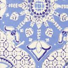 6430-01 NEW BATIK French Blue Navy on Tint Quadrille Fabric