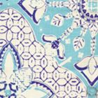 6430-03 NEW BATIK Turquoise New Navy on Tint Quadrille Fabric