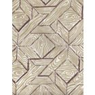 6280-02 PARQUETRY Brown Taupe on White Quadrille Fabric