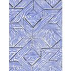6280-04 PARQUETRY Navy French Blue on White Quadrille Fabric