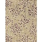 3030-03 TRILBY Taupe Prune Dots on Tan Quadrille Fabric