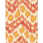 7320H-06T ZIZI HORIZONTAL Terracotta Orange Yellow Quadrille Fabric