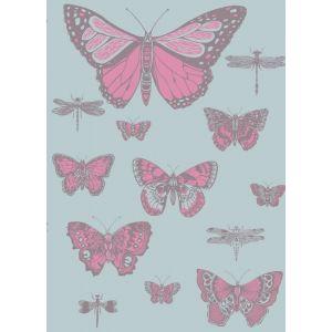 103/15062-CS BUTTERFLIES & DRAGONFLIES Pink On Blue Cole & Son Wallpaper