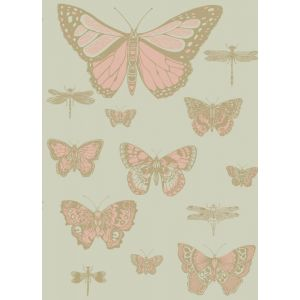 103/15063-CS BUTTERFLIES & DRAGONFLIES Pink On Olive Cole & Son Wallpaper