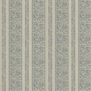 LA JOLLA STRIPE Azure Fabricut Fabric