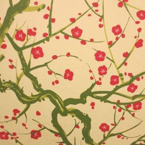 Clarence House Flowering Quince Green 6847-2 Wallpaper