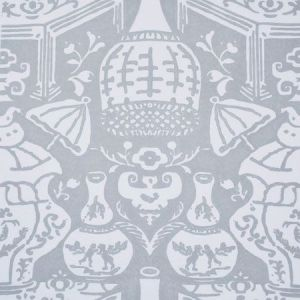 6801 15 The Vase Blue Grey Clarence House Wallpaper