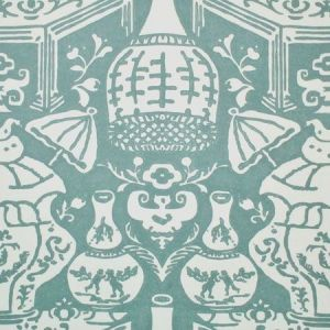 6801 17 The Vase Teal Clarence House Wallpaper