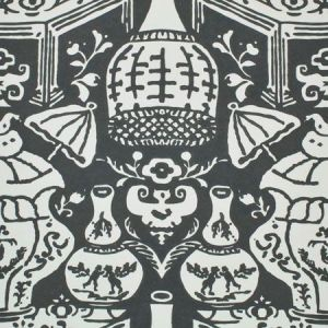 6801 20 The Vase Charcoal Clarence House Wallpaper