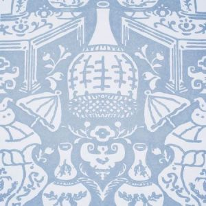 6801 22 The Vase Pale Blue Clarence House Wallpaper