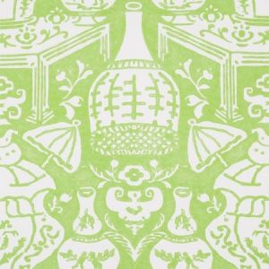 6801 23 The Vase Lime Green Clarence House Wallpaper
