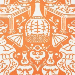 6801 24 The Vase Orange Clarence House Wallpaper
