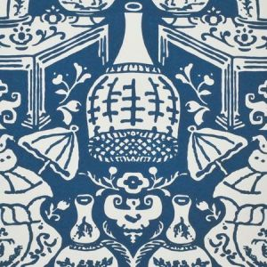 6801 25 The Vase Navy Blue Clarence House Wallpaper