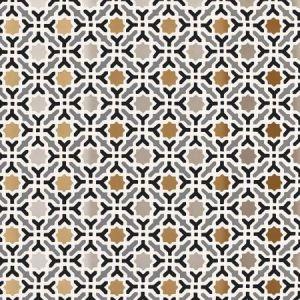 Schumacher Serallo Mosaic Mica Wallpaper
