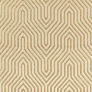 Schumacher Vanderbilt Velvet Greige Fabric