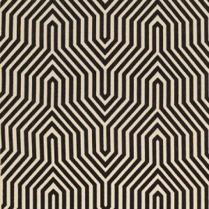 Schumacher Vanderbilt Velvet Noir Fabric