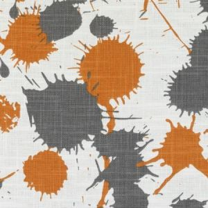 Duralee DE42603-36 SPLATTER ORANGE Fabric