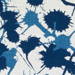 Duralee DE42603-5 SPLATTER BLUE Fabric