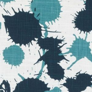 Duralee DE42603-57 SPLATTER TEAL Fabric