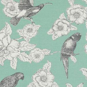 Duralee DE42609-19 PAPPAGALLI AQUA Fabric