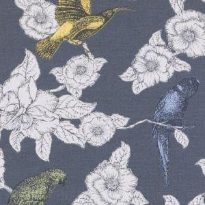 Duralee DE42609-79 PAPPAGALLI CHARCOAL Fabric