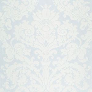 Schumacher Chateau Silk Damask Ciel Fabric