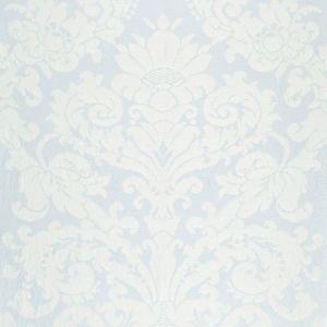 Schumacher Chateau Silk Damask Ciel Fabric