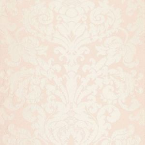 Schumacher Chateau Silk Damask Blush Fabric