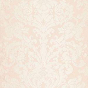 Schumacher Chateau Silk Damask Blush Fabric