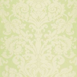 Schumacher Chateau Silk Damask Citron Fabric