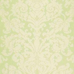 Schumacher Chateau Silk Damask Citron Fabric