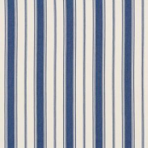 Schumacher Branca Stripe Indigo Fabric