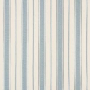 Schumacher Branca Stripe Sky Fabric