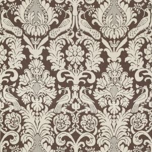Schumacher Anna Damask Sable Brown Fabric