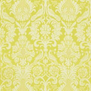 Schumacher Anna Damask Acid Green Fabric