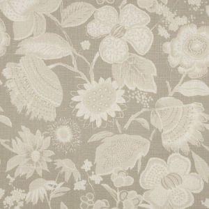 Schumacher Tikki Garden Linen Sea Oyster Fabric